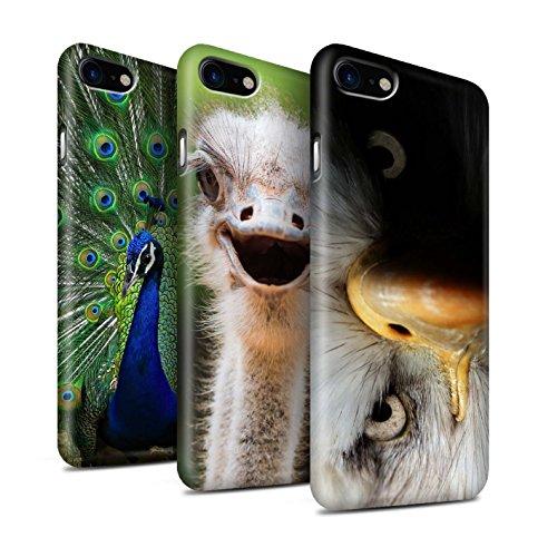 Clipser Matte Coque de Stuff4 / Coque pour Apple iPhone 7 Plus / Girafe Design / Animaux sauvages Collection Multipack Oiseaux