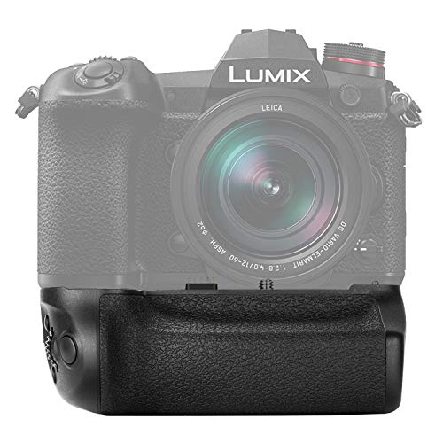 Neewer Batteriegriff kompatibel mit Panasonic Lumix G9 Kamera Ersatz für DMW-BGG9 mit Auslöser Fokuspunktsteuerung Joystick Arbeit mit 1 DMW-BLF19E Liion Akku