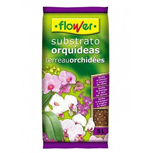 Flower 80017 - Substrato Orquídeas 5L, 24 x 4.5 x 39 cm, Color marrón