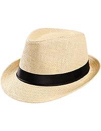 532dcc130c6eb Rovinci Trilby Gangster Cap Gorro de Playa Sombrero de Copa Sombrero de Pescador  Sombrero de Copa Sombrero para el Sol Gorra Exterior con…