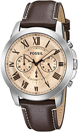 e4c9f10fba6a79 Miglior Prezzo Fossil uomo FS5152 Grant cronografo orologio in pelle ...