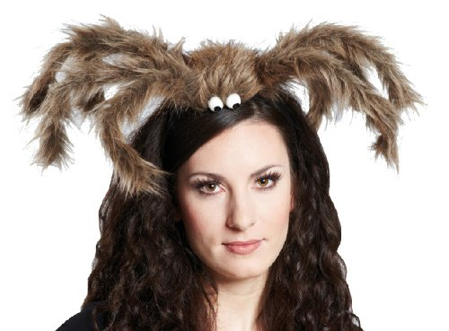 Karneval Zubehör Haarreif Spinne braun zum Damen Kostüm an Halloween