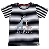 SALT AND PEPPER Mädchen T-Shirt Wonderful Stripes, Blau (Ink Blue Melange 481), 104 (Herstellergröße: 104/110)