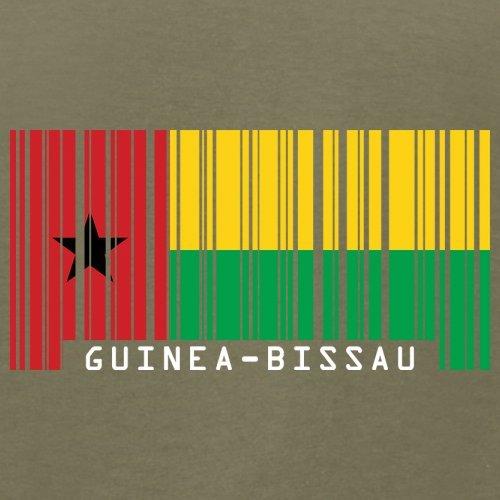 Guinea-Bissau Barcode Flagge - Herren T-Shirt - 13 Farben Khaki