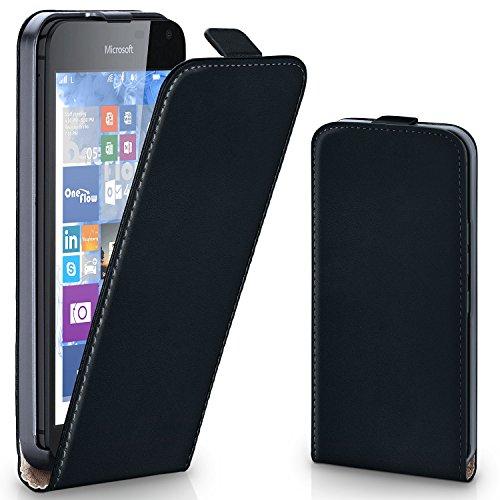 moex Microsoft Lumia 650 | Hülle Schwarz 360° Klapp-Hülle Etui Thin Handytasche Dünn Handyhülle für Nokia Lumia 650 Case Flip Cover Schutzhülle Kunst-Leder Tasche