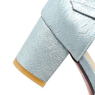 LvYuan Damen-Sandalen-Outddor Büro Lässig-PU-Blockabsatz-Andere-Blau Rosa Weiß Gold Blue