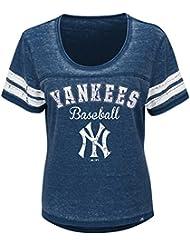 """New York Yankees Mujer Majestic MLB """"Loving el Juego Mezcla de"""" Dual Camisa, large"""