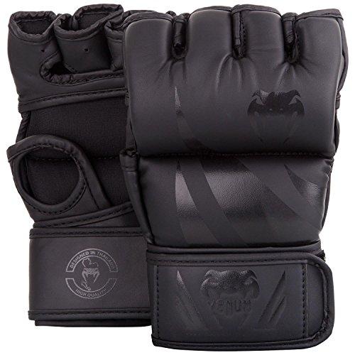 Venum Challenger 2.0 Guantillas de MMA sin plugar, Unisex Adulto, Negr
