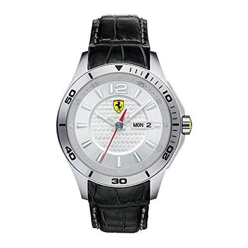 Scuderia Ferrari 0830092 Gents Watch Black Leather Strap Analogue Display