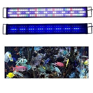 Aquarium Light 90cm-120cm AquarienEco RGB Full Spectrum Aqua Plant Fish Tank Lamp LED Hoods Lighting Suitable for Plants and Fish Keeping A149