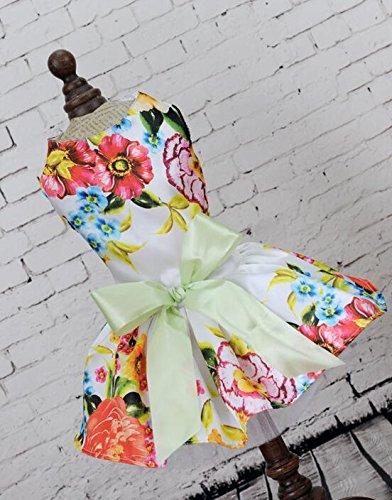 Jeephuer Lieblicher Stil Haustier Kleidung Katze Hund Elegant Chic Brautkleid - Weiße Blume S