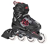 #4: Rollerblade Alpha XR Adjustable Inline Skates 07335600741 - Black/Red
