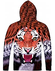 Autumn And Winter Men 'S Clothes Long Sleeved Round Collar Sweater 3D Printing Tiger