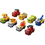 Véhicules de Construction InnooBaby 8 pieces Voiture Miniature Jouets Automatique Camions à Friction Chantier Tirer Vers L'arrière Benne Modèles Cadeau de Noël Nouvelle Année anniversaire pours les enfant 3-12 ans