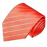 Lorenzo Cana - Designer Luxus Krawatte aus Seide - Helllachs Rosa Pink Lachs Koralle 84296