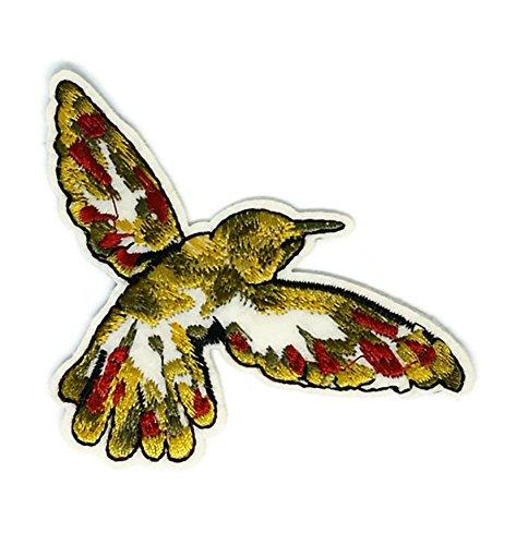 Gold Bird Animal Cartoon bestickt Nähen Eisen auf Patch Cartoon Nähen Eisen auf bestickte Applikation Craft handgefertigt Baby Kid Girl Frauen Tücher DIY Kostüm Zubehör