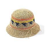 ZHENGYIXIA HAT para Sombreros de Mujer 2019 Sombrero para el Sol Visera Distaff Sombrero de Paja Sombrero de Trigo a Rayas Sombrero de Verano de Primavera Sombrero para el Sol de Viaje Salvaje