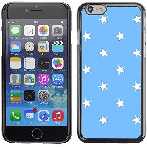 Graphic4You Sterne Muster Design Harte Hülle Case Tasche Schutzhülle für Apple iPhone 6 Plus / 6S Plus (Aqua Blau) Hellblau