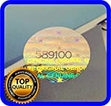180 St. Hologramm Etiketten mit Seriennummern, Garantie Siegel Aufkleber Rund 15mm