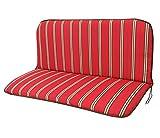 Bankauflage 2-sitzer NEBRASKA mit Rückenteil 98x88cm, rot gestreift