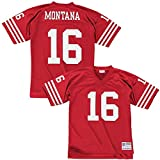 Mitchell & Ness Joe Montana San Francisco 49ers Throwback NFL Jersey Red L