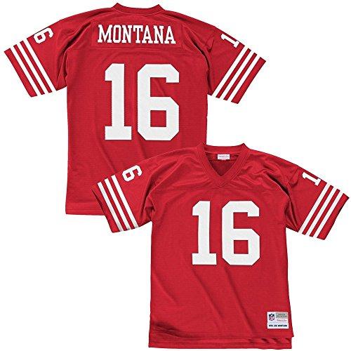 Mitchell & Ness Joe Montana San Francisco 49ers Throwback NFL Trikot Rot XL - Mitchell Ness Throwback
