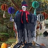 bloatboy  50 cm Höhe Hängender Sensenmann Totenschädel, die perfekte Dekoration für Halloween Anhänger Dekoration Festival Supplies (C)