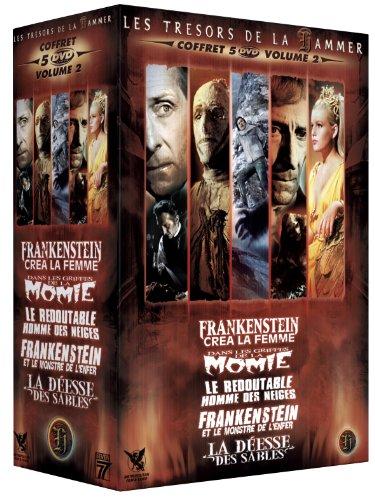 Preisvergleich Produktbild Coffret Hammer N°2 - 5 DVD : Frankenstein créa la femme / Frankenstein et le monstre de l'enfer / Le redoutable homme des neiges / Dans les griffes de la momie / La déesse des sables [FR Import]