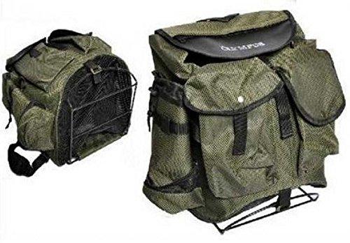 Mochila para la recogida de setas, castañas y productos del bosque, con soporte para la espalda de metal y grandes bolsillos.