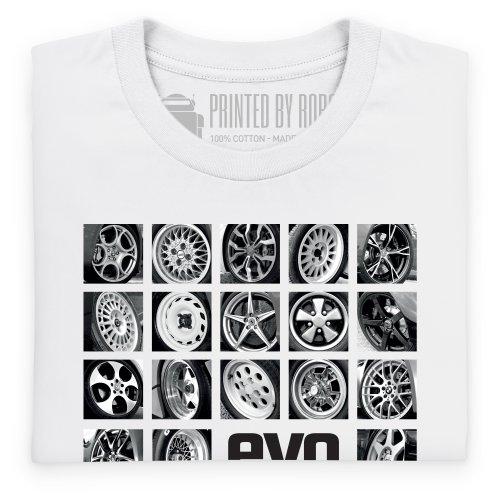 evo Wheels T-Shirt, Herren Wei