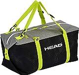 HEAD Unisex– Erwachsene Duffle Bag, Black/neon Yellow Skitasche, 60 x 30 x 30 cm