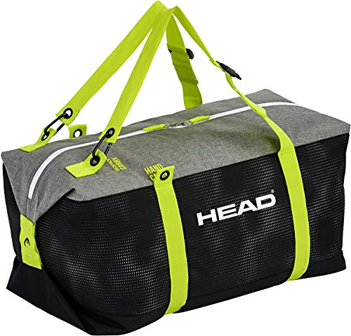 Head-Bolsa de Deporte (Unisex, Bolsa de esquí Black/Neon Yellow, 60x 30x 30cm
