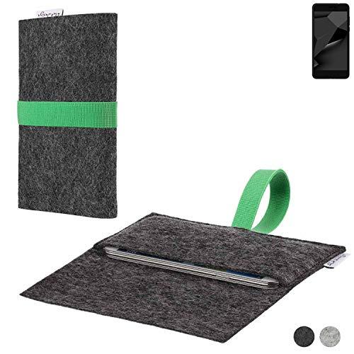 flat.design Handy Hülle Aveiro für Blaupunkt SL Plus 02 passgenaue Filz Tasche Case Sleeve Made in Germany