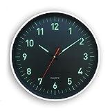 Horloge phosphorescente silencieuse contour Blanc 25 cm