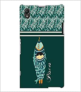 PrintDhaba Zodiac Pisces D-2740 Back Case Cover for SONY XPERIA Z1 (Multi-Coloured)