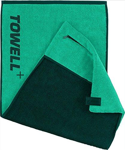 STRYVE Towell Plus V2 Sporthandtuch mit Tasche und Magnetclip, in 7 Farben Die Höhle der Löwen (Grün) Gym Handtuch TOWELL+