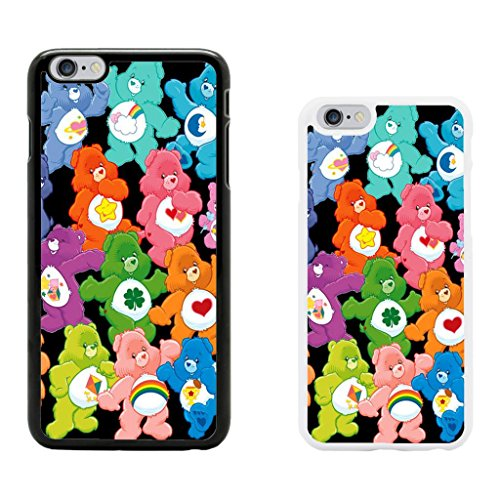 Image of Care Bear cartoon cover case for Apple iPhone 6 - T752 - Bed Time Bear - White