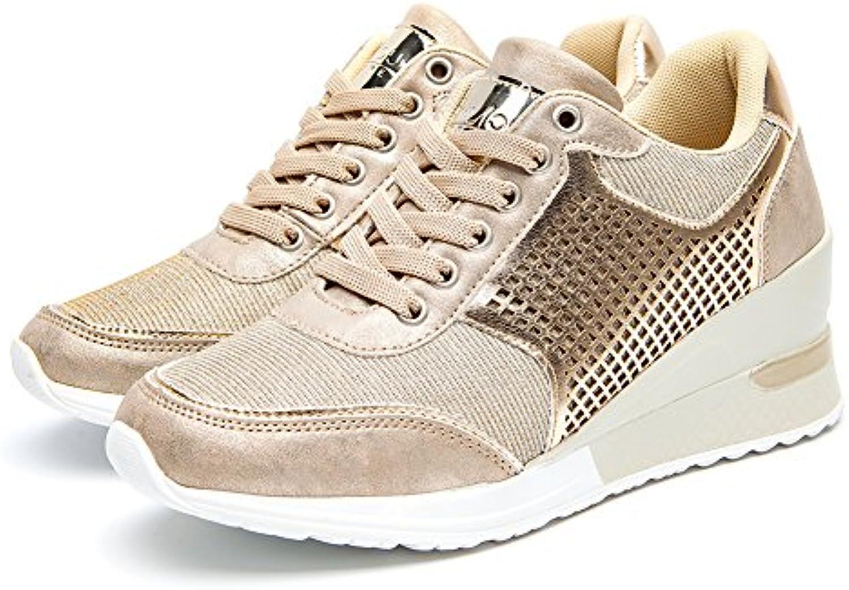 BnjouFemme Sneakers Zeppa Basse Estive per Donna Donna, Scarpe Ginnastica Fitness da Donna, Donna Tacco 6 cm, Scarpe Sportive... Parent dd227c