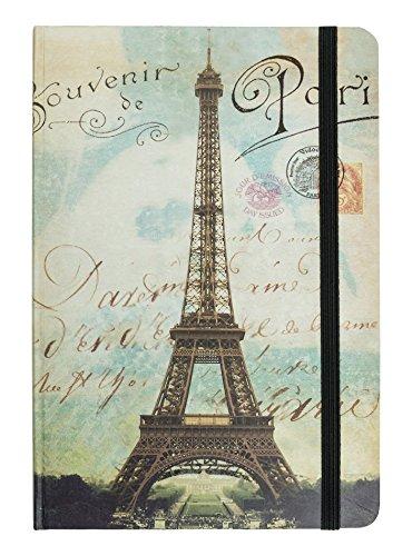 """TSI 63595-3 Notizbuch mit 192 Seiten Größe 135 x 200 mm, liniert, Motiv """"Eifelturm Paris"""""""
