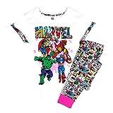 Damen Marvel Comics Hulk Thor T-Shirt Top Geschenkverpackung Schlafanzüge Übergrößen von 8 bis 22 - Baumwolle, Weiß, 100% baumwolle, Damen, 44-46