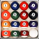 IMMEK Juego de Bolas de Billar Americano tamaño estandar 57,2mm y Blanca 60,3 mm