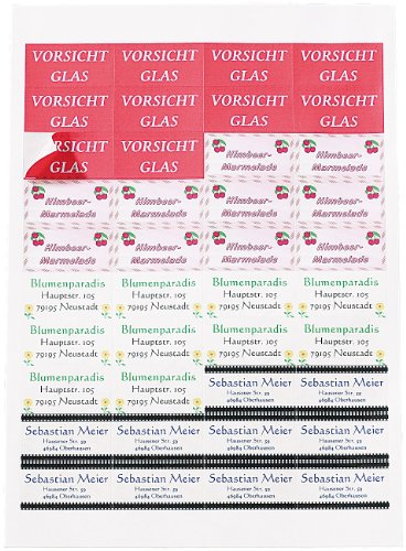 Sattleford Selbstklebende Etiketten: 1120 Adress-Etiketten Mini 48,8x25,4 mm für Laser/Inkjet (Drucker Etiketten)