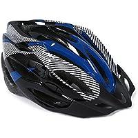 SODIAL(R) Casco Ciclismo Con Visera Azul Bici Bicicleta Mountain bike Helmet