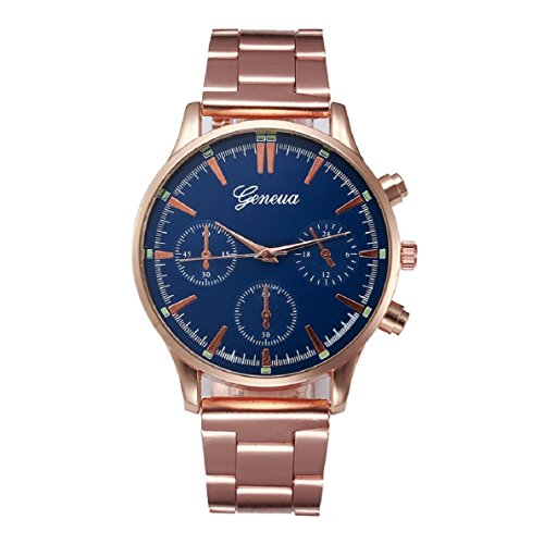 OverDose Herren Kristalledelstahl -analoge Quarz-Armbanduhr-Armband