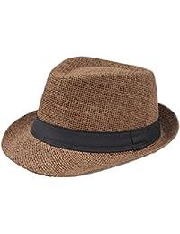 Sombrero De Panamá para Mujer Sombrero Jazz Sombrero Flexible De Playa Especial  Estilo De Verano Sombrero De Paja Sombrero De ala Ancha… 6af63046208