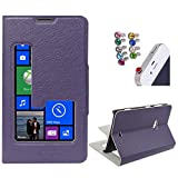 DMG Sview Call Case Vip for Nokia Lumia 625 (Purple) + 3.5mm Jewel Dust Jack