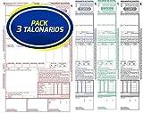 Pack 3 Talonarios CMR Autocopiativos Anónimos | Acordes a la legislación de Transporte vigente