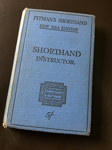 pitman's shorthand instructor new era edition