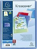 Exacompta - Réf 5749E - Un Protège Document KREACOVER Personnalisable en Polypro Semi-Rigide 5/10ème 24x32 80 Vues Couleur Aléatoire