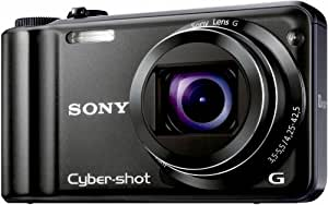 Sony DSCH55B Cyber-shot Digital Camera - Black (14.1MP, 10x Optical Zoom) 3 inch LCD